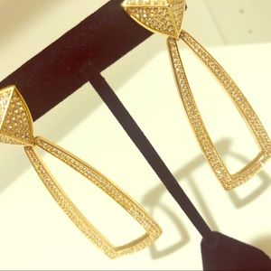 ⭐️ House of Harlow Gold Pave Earrings ⭐️